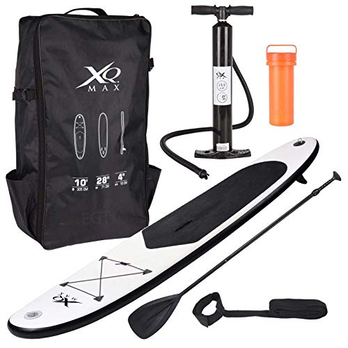XQ Max SUP gonfiabile Stand Up Paddle Board Set, Nero