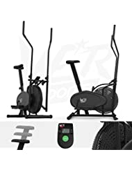 We R Sports 2-in-1 Elliptical Cross Trainer and Exercise Bike Fitness Cardio Workout with Seat