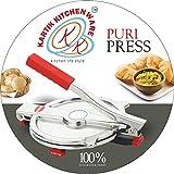 #3: Stainless Steel Puri Press/Papad Maker/Roti Press Machine (Large)