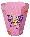 Unbekannt Bastelset Papierkorb - Schmetterling Mülleimer rosa Mädchen