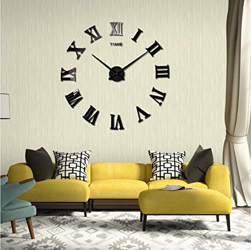 Fushoulu Diy Wandaufkleber Uhr 3D Große Spiegel Uhr WandaufkleberNeue Dekoration Modernes Design Wanduhren Wandaufkleber