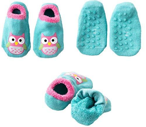 Hapkou 6 Pares Calcetines Antideslizante para Bebé Niña Niño Animados Lindo Búho Algodón Calcetines de Bebé 2