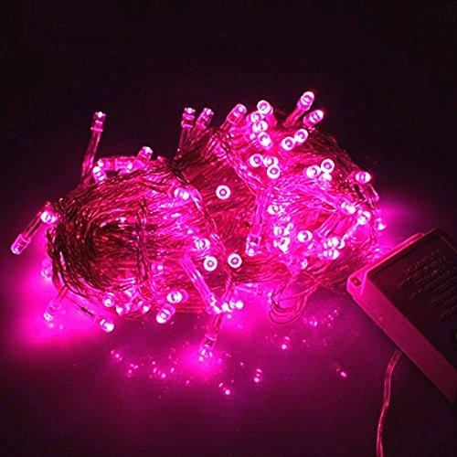 DulceCasa LED a luci , Light String Stringa illuminazione Decorazioni Feste Natale Fata nozze Luci della tenda 220V nuziale / hotel / festival / Ristoranti - 10m Rosa