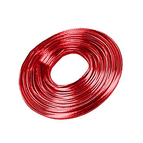 H HILABEE DIY Car Interior Decor Türleiste Styling Strip Trim Decals Line, 16ft - Rot (Rot-strip-line)