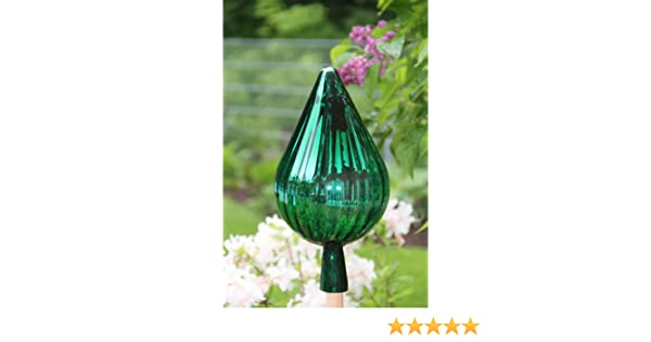 Gartenkugel RT3 auch mit Rosenkugelstab erhältlich Rosenkugel Tropfenform Gartenkugeln Rosenkugeln Glas 33 cm groß