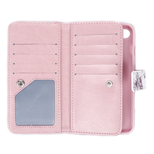 SainCat Apple iPhone 7 Custodia in Pelle,Anti-Scratch Protettiva Corpertura Caso Custodia Per iPhone 7,Elegante Creativa Dipinto Pattern Design PU Leather Flip Ultra Slim Sottile Morbida Portafoglio W Roses#