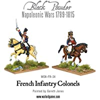 Black Powder, Napoleonic Wars, Mounted French Colonels, 28mm Warlord games miniatures by Black Powder