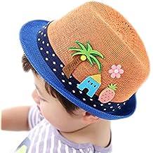 Leisial Sombrero de Paja Playa Gorro Visera para el sol al aire libre Viaje  Protector Solar 8f1c50a3ea3