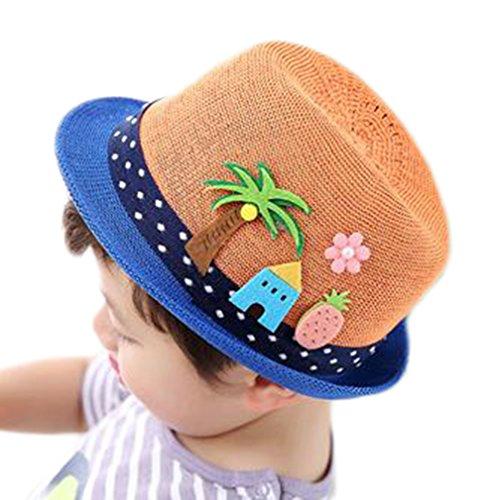 LAAT Kinder Sonnenhut Baby Sonnenschutz Abdeckung Kinder Hut Outdoor Sonnenschutz Strand Strohhut