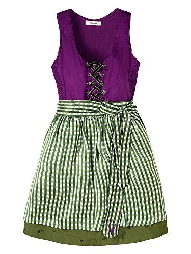 sheego Femmes Robe traditionnelle Dirndl Grande taille Vert