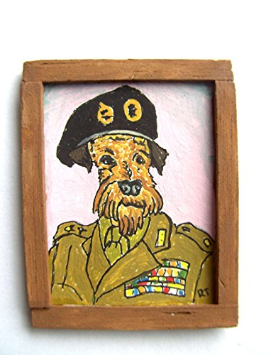 ooak-1-12th-dollhouse-miniature-hybrid-dog-painting-airedale-terrier-field-marshall-airedale-montgom