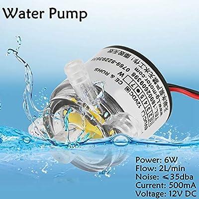 Pompe submersible sans brosse Acogedor 12V Pump Pompe à eau sans balais submersible submersible de qualité alimentaire 2L / min