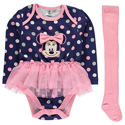 Character Kinder Baby Maedchen Tutu Set Langarm Body Strumpfhose Outfit Disney Minnie 0-3 Mnth