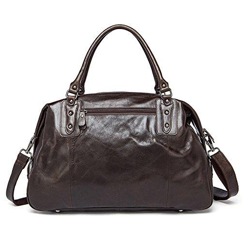 Weekender Tasche Reisetasche Duffle bag Herren Damen Full Grain Leder Vintage braun klein (Full-grain-leder-tasche)