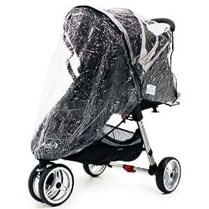 Baby Jogger City Mini Micro Single Rain Cover Zipped