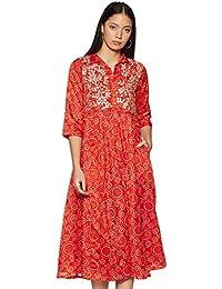 Rangriti Satin a-line Dress