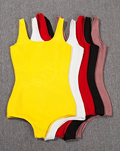 Whoinshop Damen Einteilige Rückenfrei Bodycon Badeanzug Bandage Tankinis Monokini Schwarz