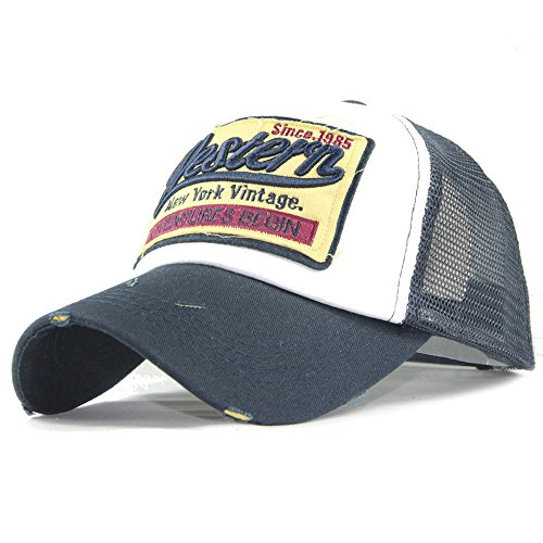 ball Cap Einstellbar Mesh Hüte Baseballmütze Gestickte Sommerkappe für Männer Frauen Casual Hüte Hip Hop Stickerei Baseball Caps Modische Baseball Mütze Snapback Trucker Hat ()