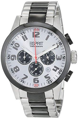 Esprit ES000ER1010 - Reloj de Pulsera Hombre, Acero Inoxidable, Color Plateado
