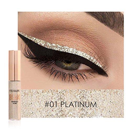 Oshide Eyeliner Glitzer 5 Farben Liquid Lidschatten Schimmer Pigment Metallic Liquid Glitters...