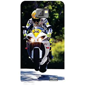 Printland Bike Back Cover For Samsung I9100 Galaxy S2