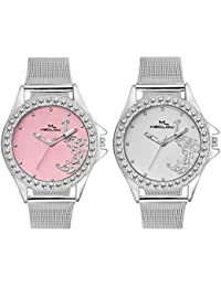 Latest Fashionable Round Dial Watches Combo Of 2 Casual / Formal / Party Wear Watches For Womens By Meclow