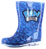 Neuf Jeune fille Garçons/Pour Enfants Bleu Paw Patrol Chasse Pvc Bottes Caoutchouc bleu - TAILLES UK 4-9 - Bleu, 37, Bleu