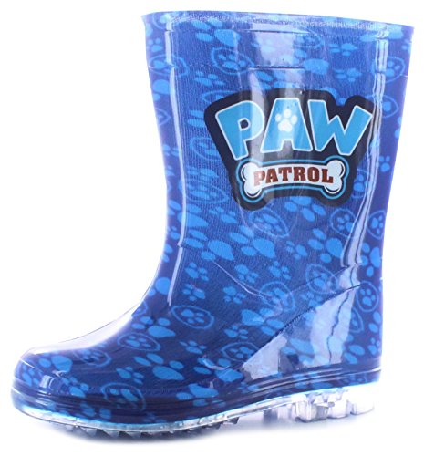 new-younger-boys-childrens-blue-paw-patrol-chase-pvc-wellington-boots-blue-uk-size-9
