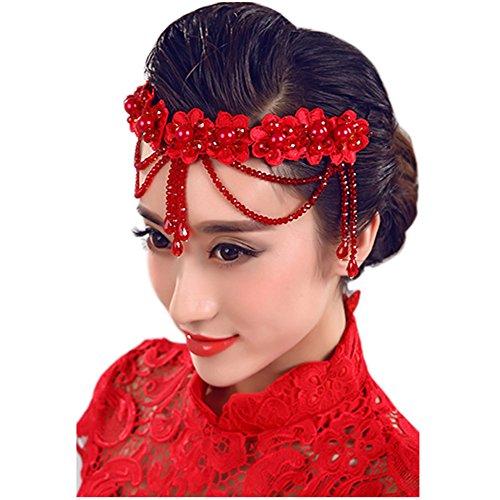 Mariage Fleur Strass s nuptiale de dentelle Bandeau Accessoires cheveux, D