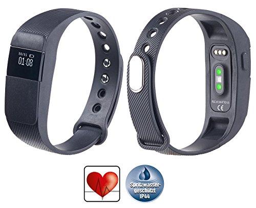PEARL Fitness Pulsuhr: Fitness-Armband, Bluetooth 4.0, dyn. Herzfrequenz-Anzeige, Nachrichten (Smartwatch mit Herzfrequenzmesser)
