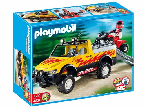 Playmobil Vacaciones - Pick-up con Quad 4228