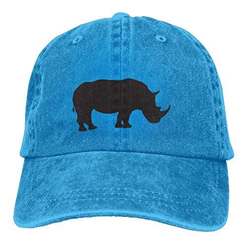 Nifdhkw Meshback Cute Rhino Snapback Baumwollmütze ()