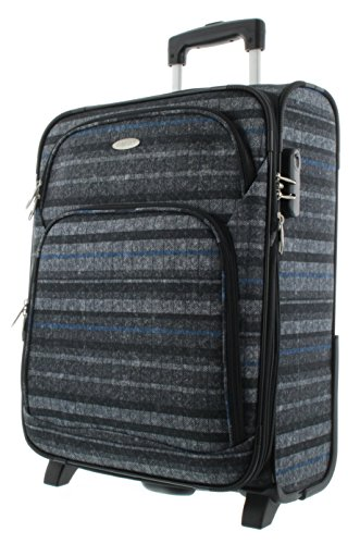 Franky Reisetrolley 63 cm Grey Flanel Stripe
