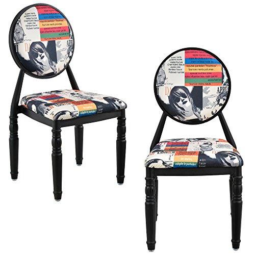 encasar-2-x-sedia-imbottita-design-patchwork-multicolore-nero-retro