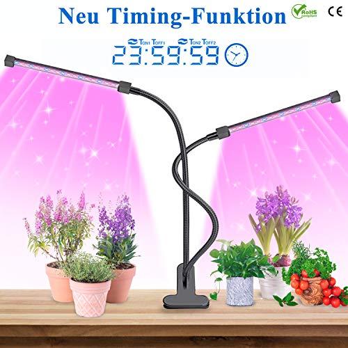 LED Pflanzenlampe, 2019 Präzise Bis Sekundengenaue Automatische Zeitfunktion LED Grow Light Lampe, Lovebay 20W 40 Leds Pflanzenlicht Wachstumslampe Pflanzenleuchten Pflanzen Lampe