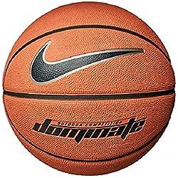Nike Dominate 8P Basket-Ball Mixte Adulte, 847 Amber/Black/Metallic Plati, Taille 7