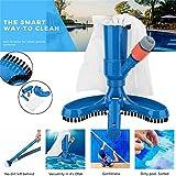 Lin XH Portable Pool Vacuums Mini Jet Underwater Cleaner Mesh Bag Brush Head