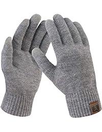 Bequemer Laden Damen Winter Warme Touchscreen Handschuhe Gedehnt Kaschmir Magie Handschuh Fleece Stretch Strick Dicke Handschuhe Outdoor Winterhandschuhe für Frauen