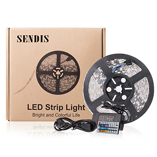 19 99 sendis kit de ruban led 5m 60w 300 leds. Black Bedroom Furniture Sets. Home Design Ideas