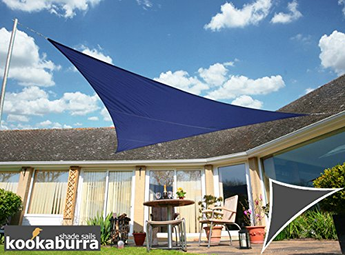 Kookaburra Voile d'Ombrage Imperméable 6,0m × 4,2m Triangle Rectangle Bleu