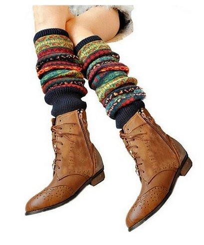 Qissy® Damen Herbst und Winter Leggings Beinstulpen Leg Warmer - Verschiedene Farben (Pattern 6)