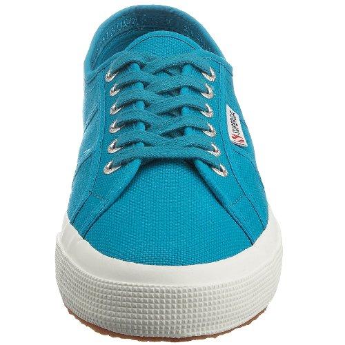 Superga 2750-Jcot Classic, Sneaker Unisex - Bambini, Bianco 18 Turchese (Blue Caribe C52)