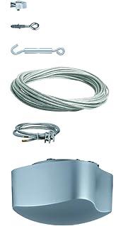 180VA Lampen Seilsystem Basissystem max.180W Halogen 12V 7,5m Seil f/ür Trafo max