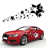 **Sternenschweif** 2er XXL SET Retro Auto Aufkleber Sterne Car Tuning Sticker Motiv Star | KB147
