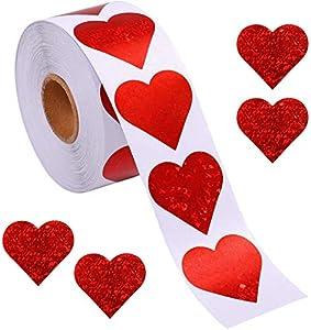 Pegatinas de corazón con diseño