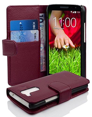 Case Lg Gummi G2 (LG G2 MINI Hülle in LILA von Cadorabo - Handyhülle mit Kartenfach für LG G2 MINI Case Cover Schutzhülle Etui Tasche Book Klapp Style in BORDEAUX LILA)