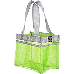 Shower Caddy Quick Dry Hanging Dorm Shower Caddy Gym Shower Caddy Hanging Toiletry Bag Shower Tote Shower Caddies Organizer Shower Bag 7 Storage Totes Compartments Shower Tote Green