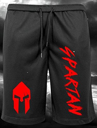 Mesh-muskel-shirt (GODSRAGE Spartan Mesh Shorts Training Trainingsbekleidung Hose Damen Herren Sport Bodybuilding (Spartan Mesh Shorts (S)))