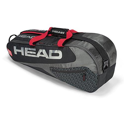 HEAD Elite 6r Combi Tennisschlägertasche, Unisex, 283739BKRD, schwarz/rot, Einheitsgröße