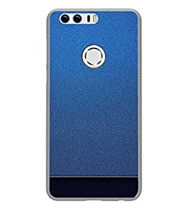 PrintVisa Designer Back Case Cover for Huawei Honor 8 (Jeans Cloth Fabric Pattern)